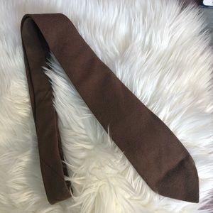 Oscar De La Renta 100% Wool Brown Vintage Tie Abq